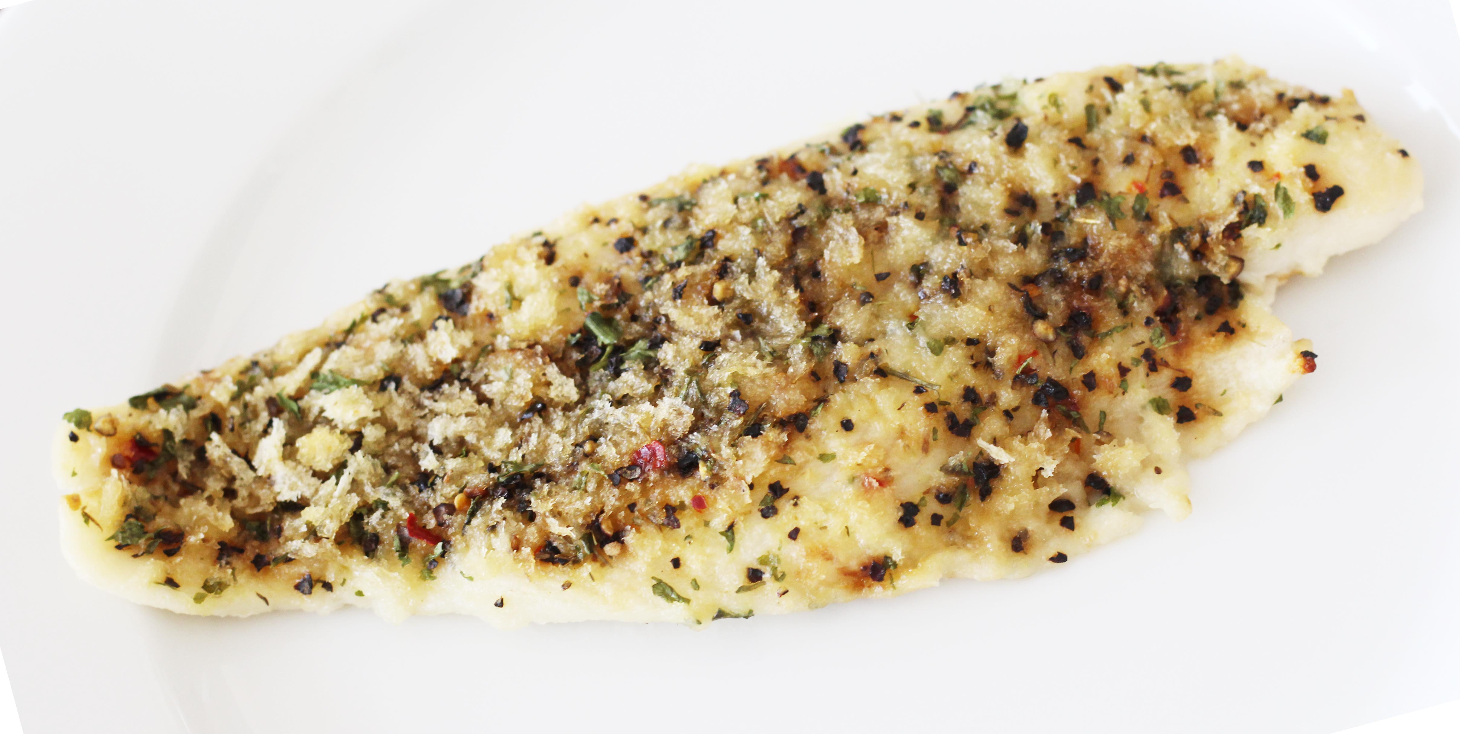 Crusted fish fillets